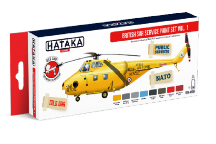 Hataka British SAR Service Paint Set Vol.1 (Acrylic)